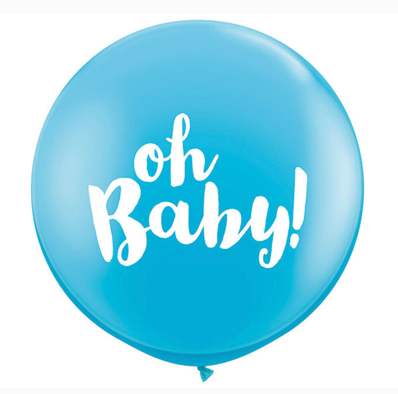 3' Oh Baby Pale Blue Balloon