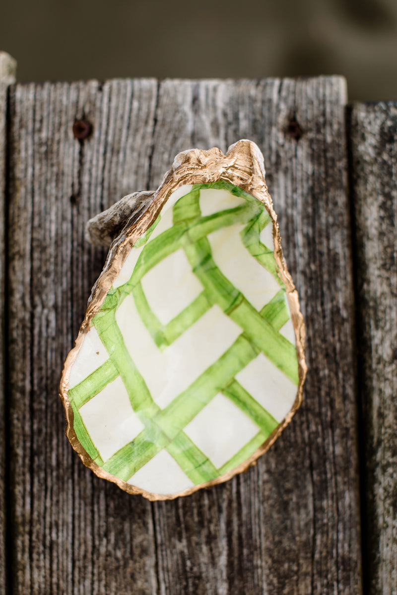 Green bamboo oyster shell