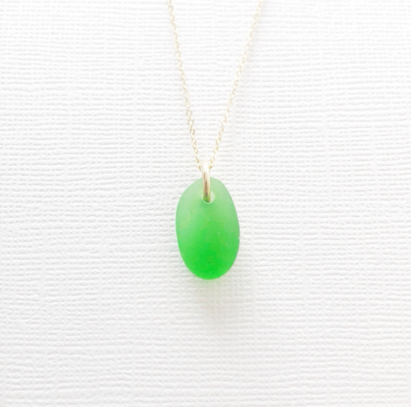 Gold filled sea glass necklace