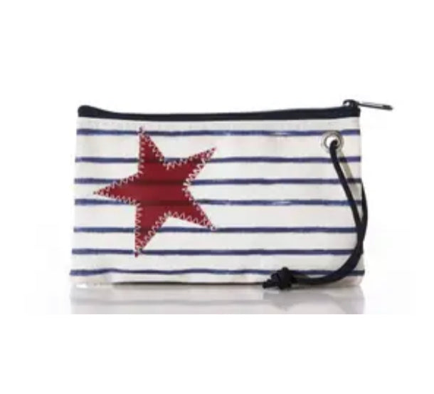 Sea bags Brenton Stripe & Star Wristlet