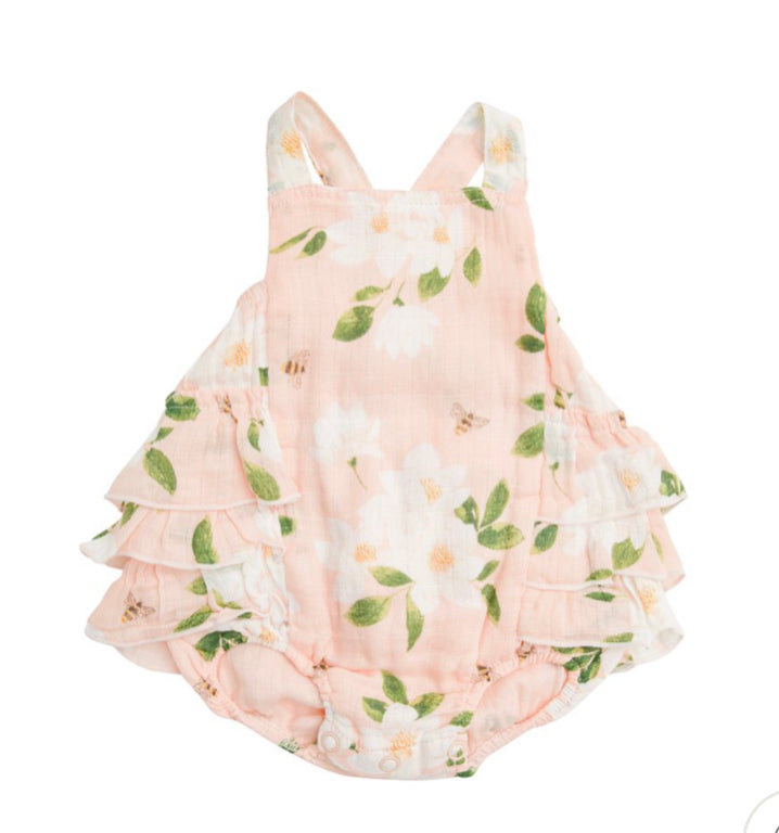 Angel dear magnolia ruffle sunsuit