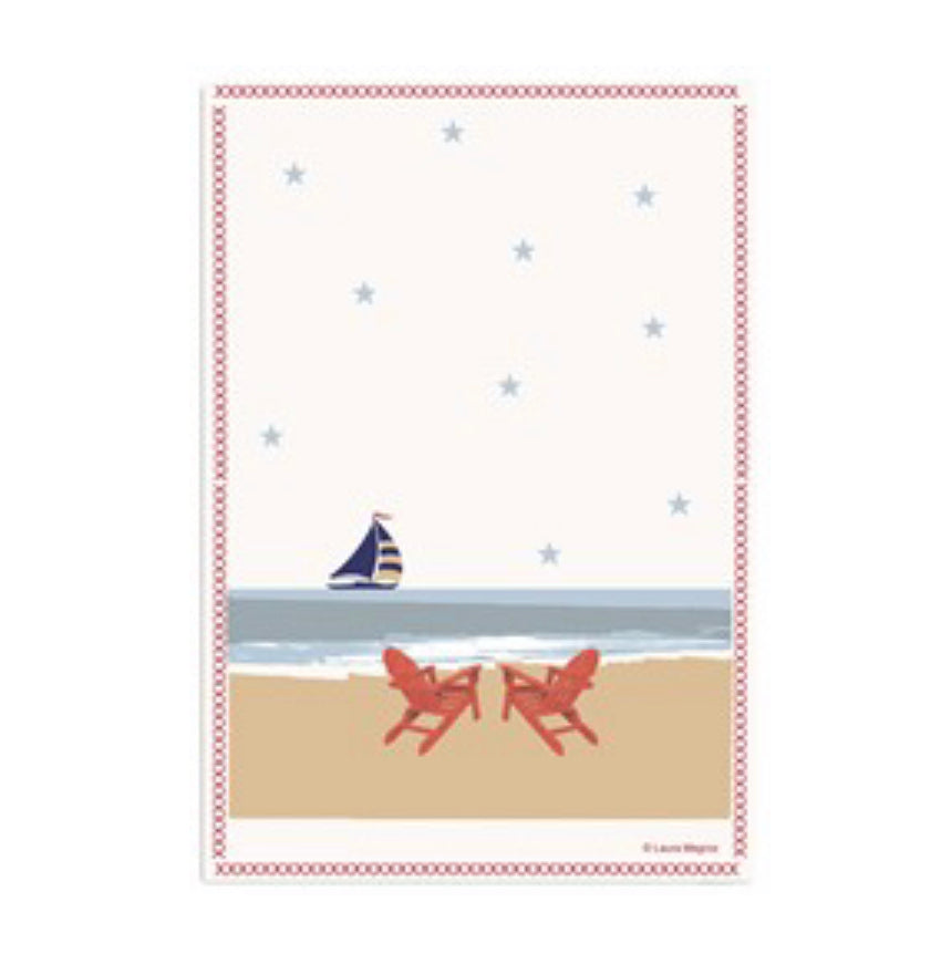 Sail On Bay Kitchen Towel