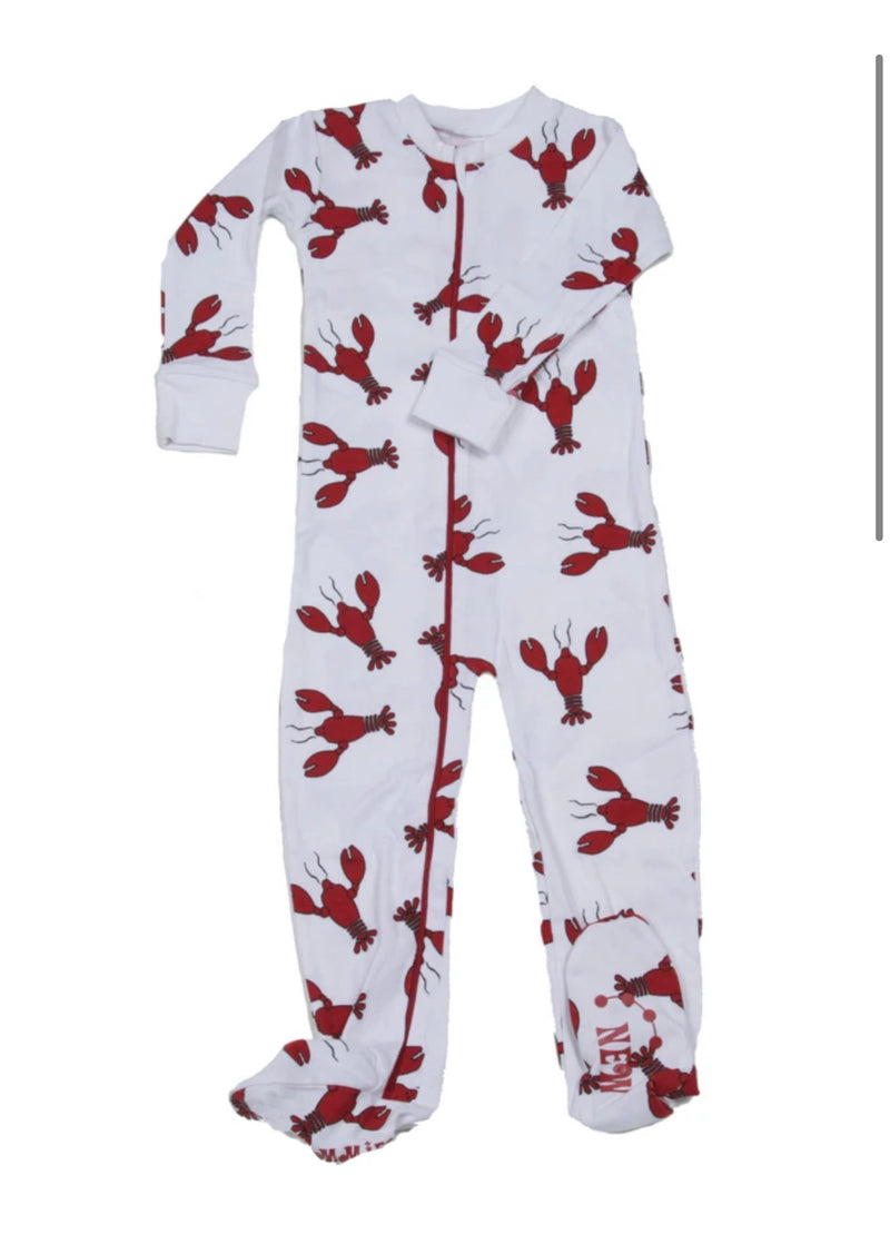 New Jammies Lobster One Piece Pajamas