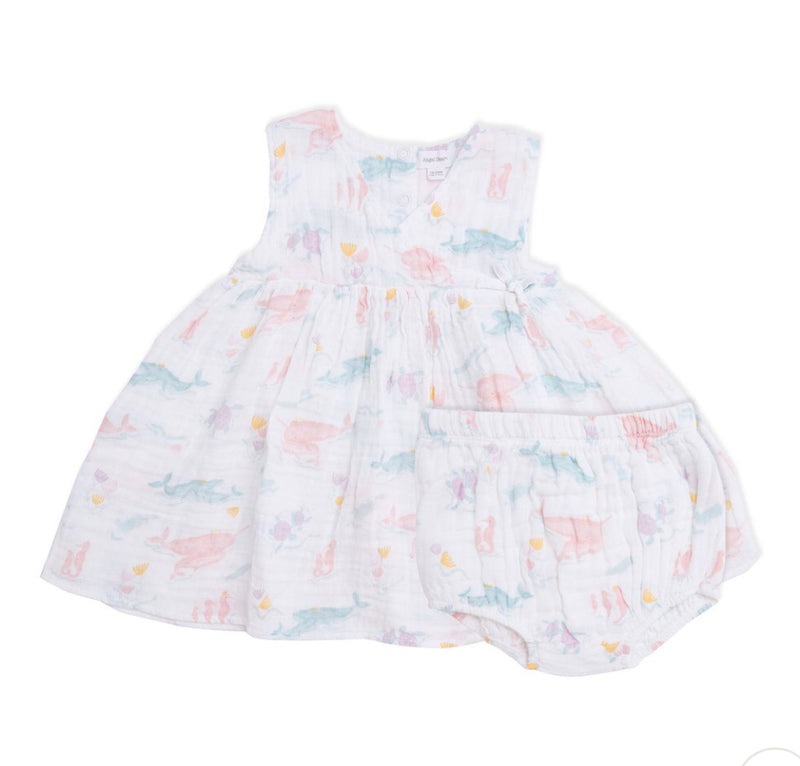 Angel dear Pretty Ocean Kimono Dress & Diaper Cover