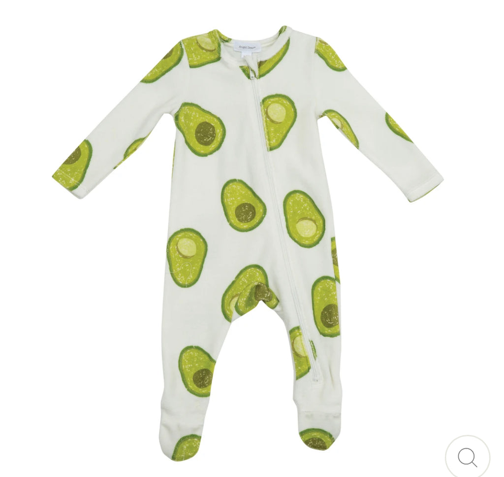 Angel Dear Avocado Terry Romper