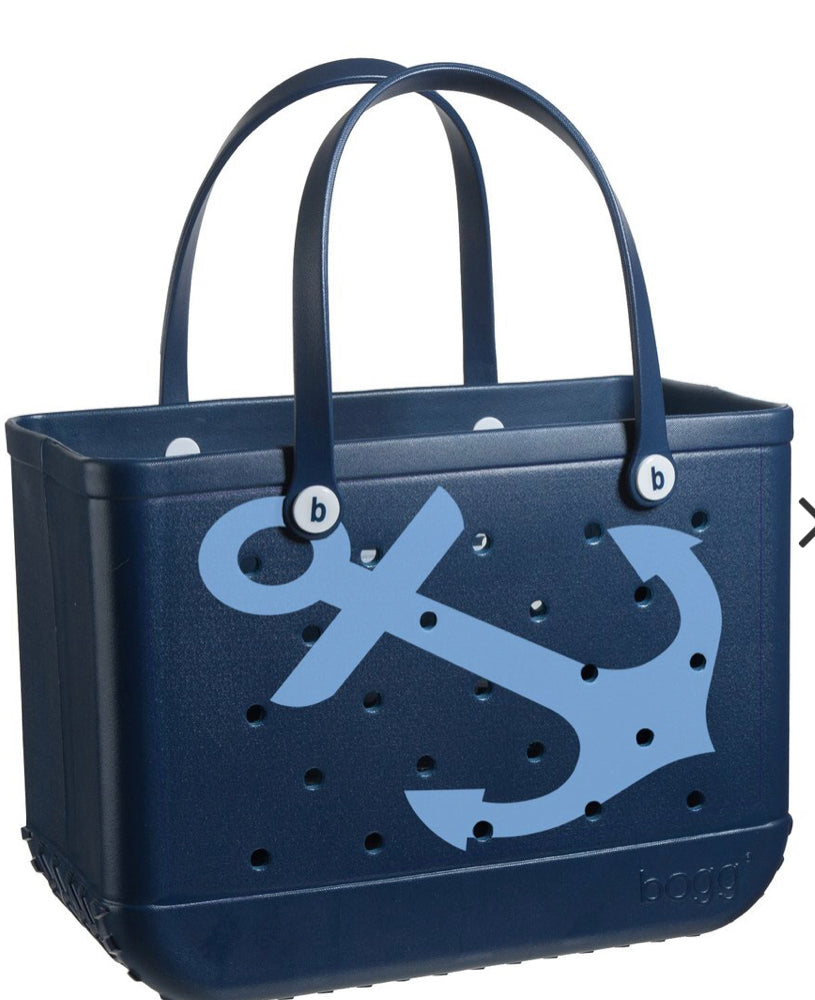 Navy Anchor Bogg Bag
