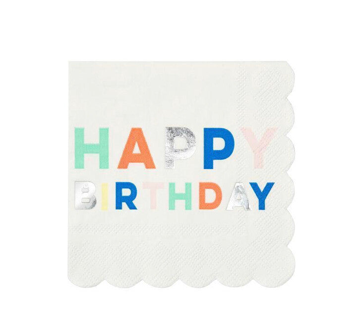 Neon Birthday Small Napkins
