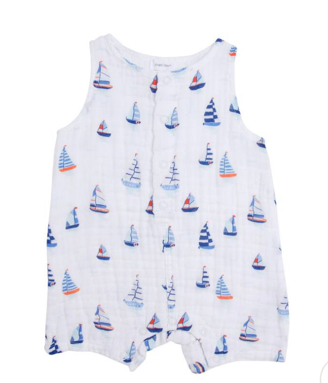 Angel dear nautical boats romper
