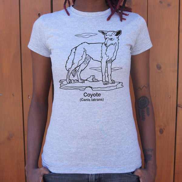 Coyote Canis Latrans T-Shirt (Ladies)