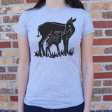 Doe And Fawn T-Shirt (Ladies)
