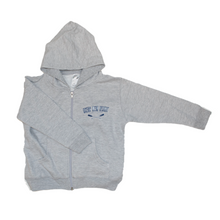 Load image into Gallery viewer, Toddler Zip Hooded Sweatshirt (Oxford Grey)