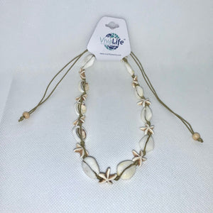 Cowrie Necklace 14""