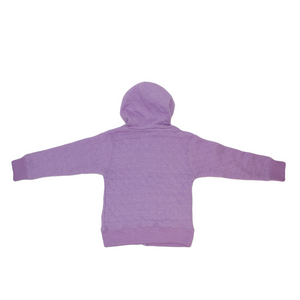 Toddler Diamond Quilted Hooded Jacket (Lavender)