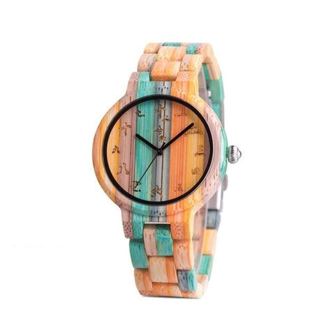 Color Bamboo Wood Watch His and Hers Pair