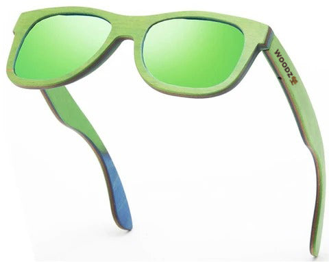 Pilot Green Skateboard Wood Sunglasses