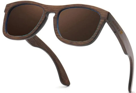 Pilot Brown Walnut Wood Sunglasses