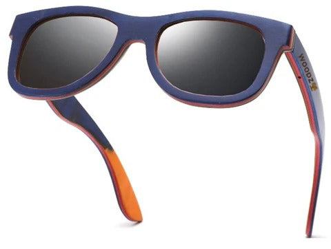 Pilot Blue Skateboard Wood Sunglasses