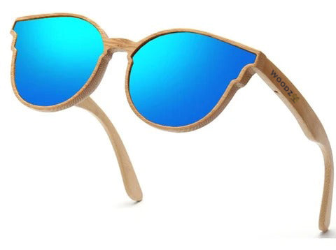 Oversized Goggle Bamboo Wood Sunglasses