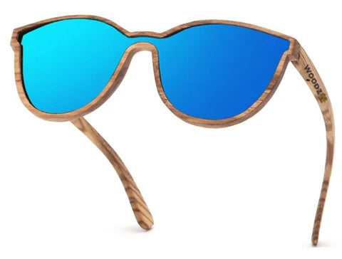 Goggle Zebra Wood Sunglasses