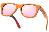 Pilot Orange Skateboard Wood Sunglasses