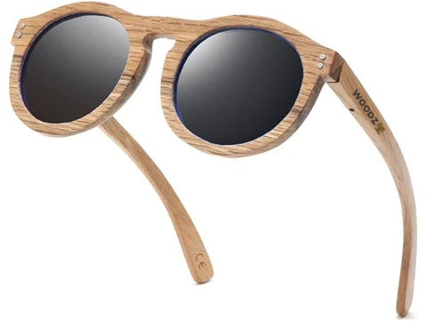 Oval Oak Wood Sunglasses