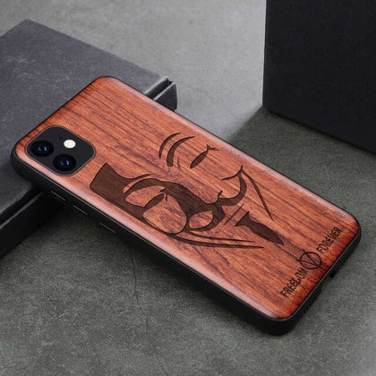 Wood iPhone Case with Laser Engraved (Face)