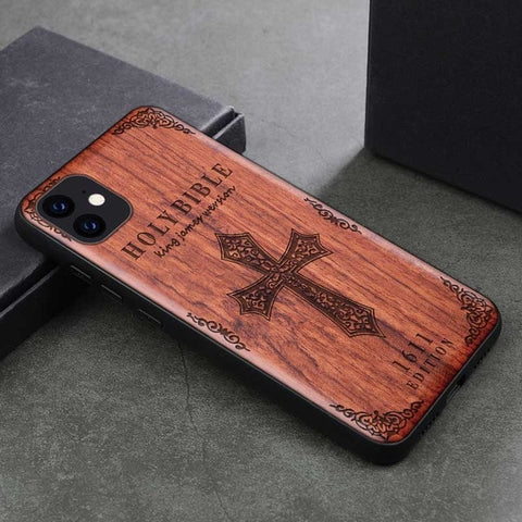 Wood iPhone Case with Laser Engraved (Bible)