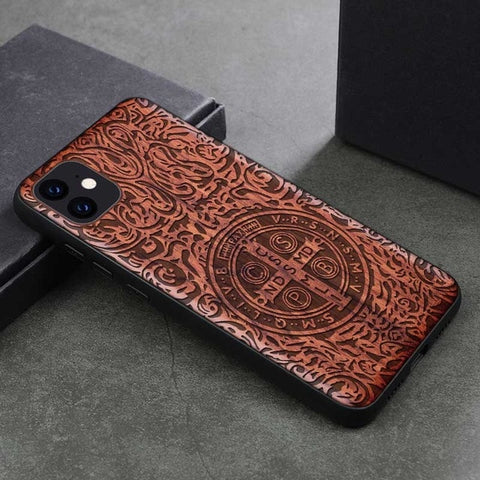 Wood iPhone Case with Laser Engraved (Graphic1)