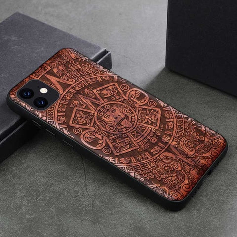 Wood iPhone Case with Laser Engraved (Faces)