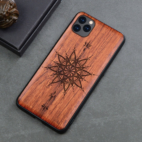 Wood iPhone Case with Laser Engraved (Graphic3)