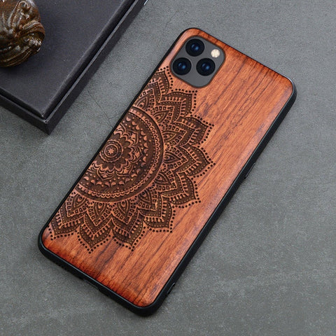 Wood iPhone Case with Laser Engraved (Graphic2)