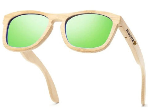 Pilot Beach Sand Bamboo Wood Sunglasses