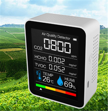 Load image into Gallery viewer, Portable Air Quality Detector Temperature And Humidity Detection TVOC Formaldehyde Detection - eMegaBoxx