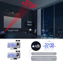 Load image into Gallery viewer, LED Digital Alarm Clock , Radio + Time Projector - eMegaBoxx