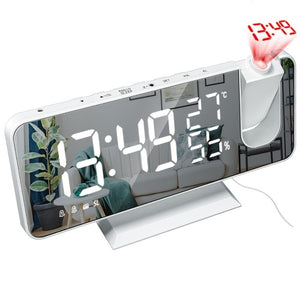 LED Digital Alarm Clock , Radio + Time Projector - eMegaBoxx