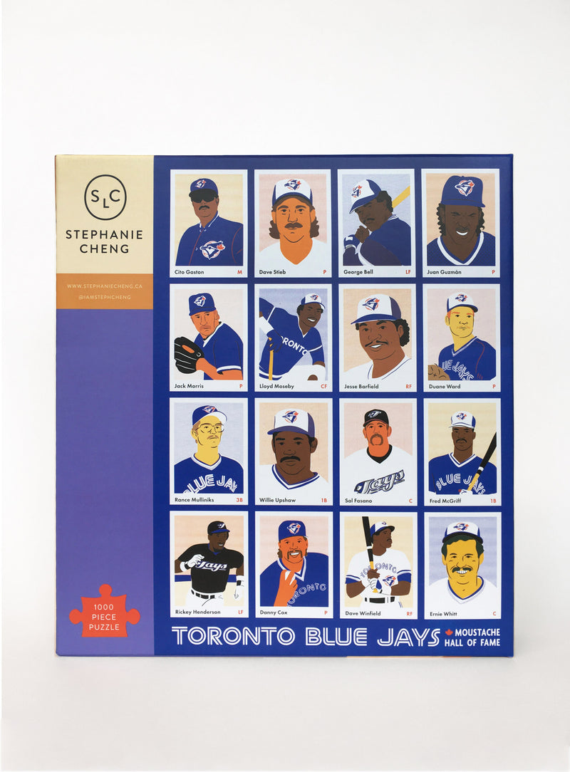 Baseball Moustache Hall of Fame Puzzle