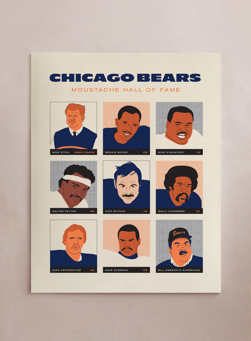 Moustache Hall of Fame - Chicago Bears