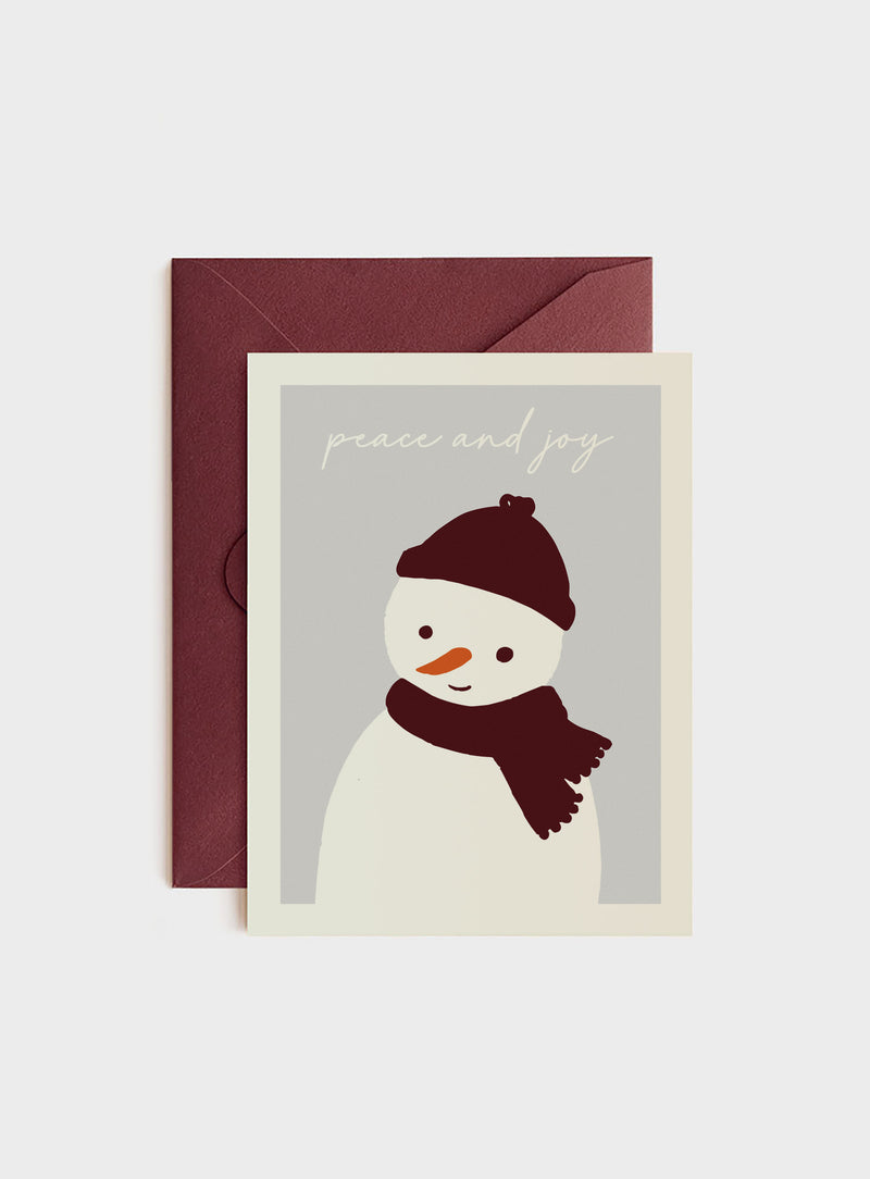 Hygge Snowperson, Holiday Card