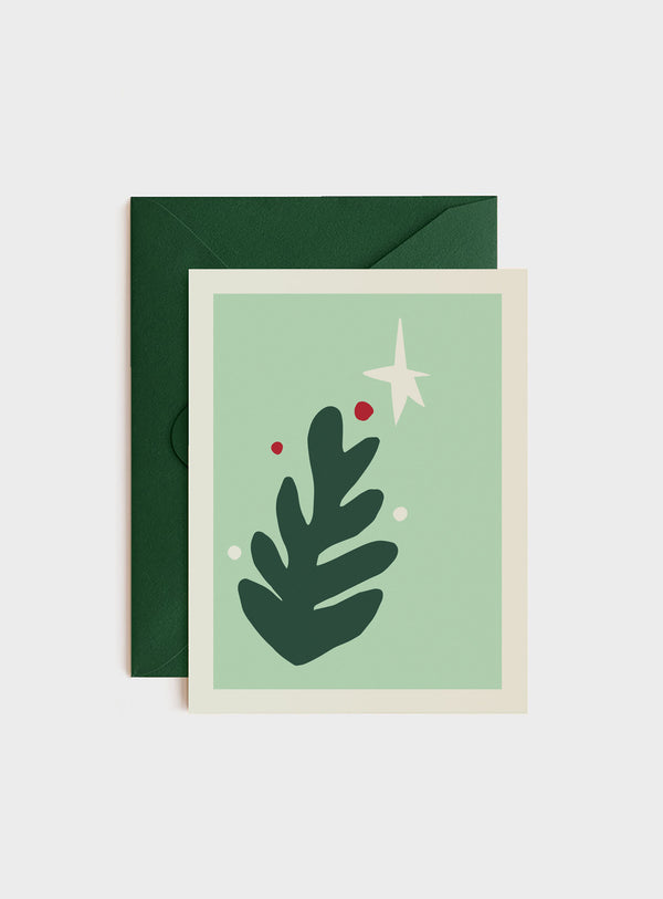 Merry Modern Tree, Holiday Card