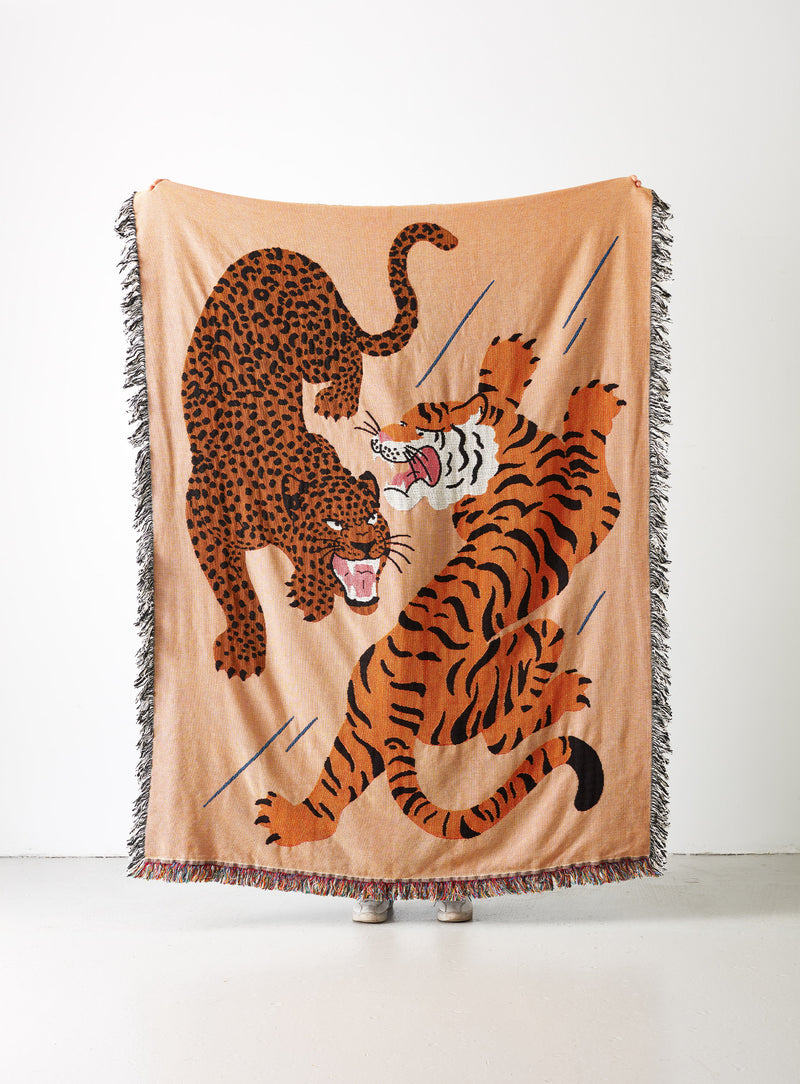 Big Cats Woven Throw