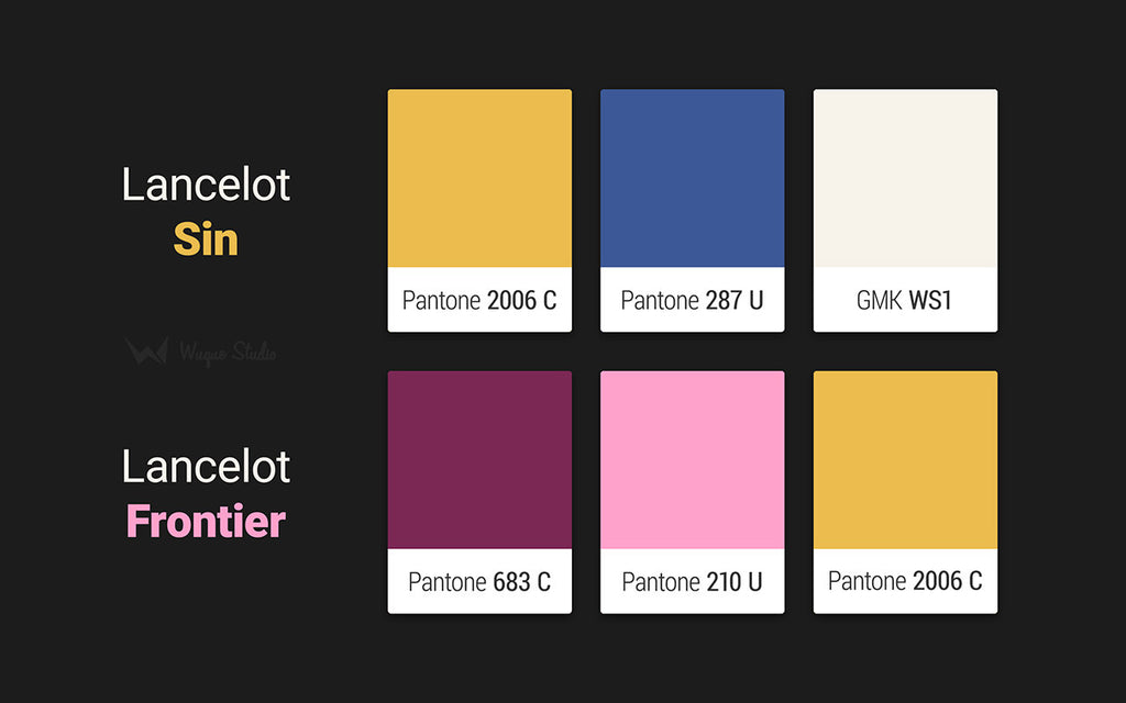 Lancelot keyset Pantone colors