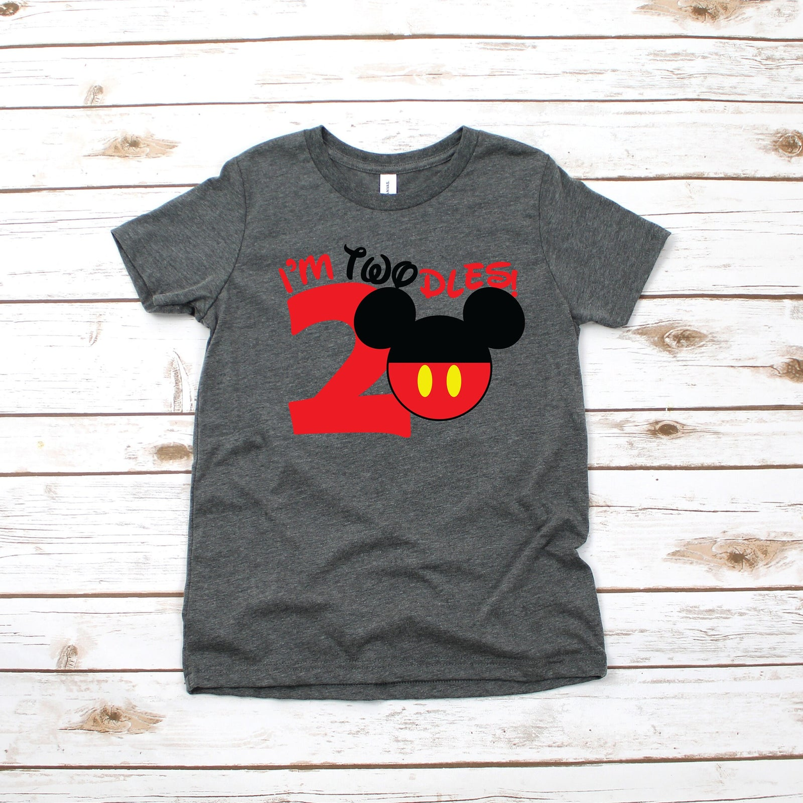 I'm Twodles Mickey T Shirt - Turning Two Disney Shirt - Mickey Birthday Party