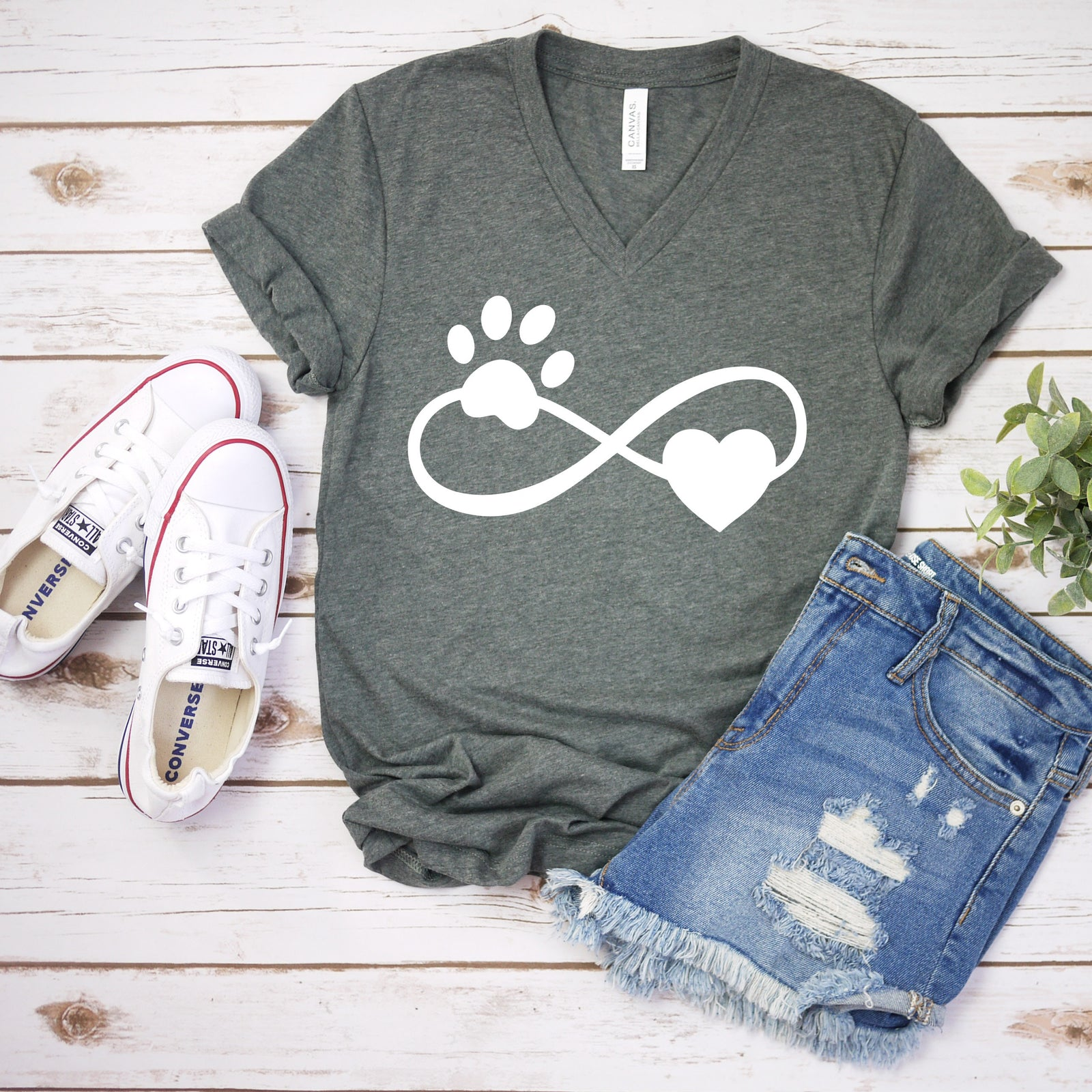 Puppy Paw Infinity Shirt - Dog Lover - Pet Rescue T Shirt