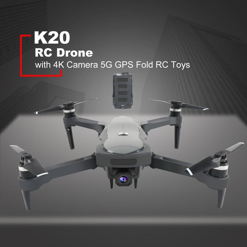 2020 New Drone Model K20 5G WiFi 4K HD wide-angle camera, RC four-axis professional folding drone flying 1.8km for 25min