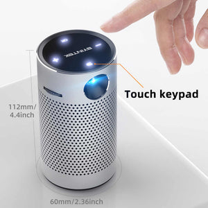 Smart Pocket Projector, 250 ANSI Lumens, Portable, Android, WIFI, 1080p Video, HD, laser, LED, DLP, 4K Beamer for 3D Full HD Cinema