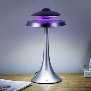 UFO Magnetic Levitation Bluetooth Stereo Speaker, 100Hz-20KHz, Wireless Charging, Clear Sound, LED, Speakers/Fashion Lamp