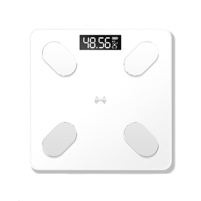 Bluetooth Bathroom Weight Scale with Body Fat and BMI Measures, Smart, Electronic, LED, Digital, Balance, Body Composition Analyzer