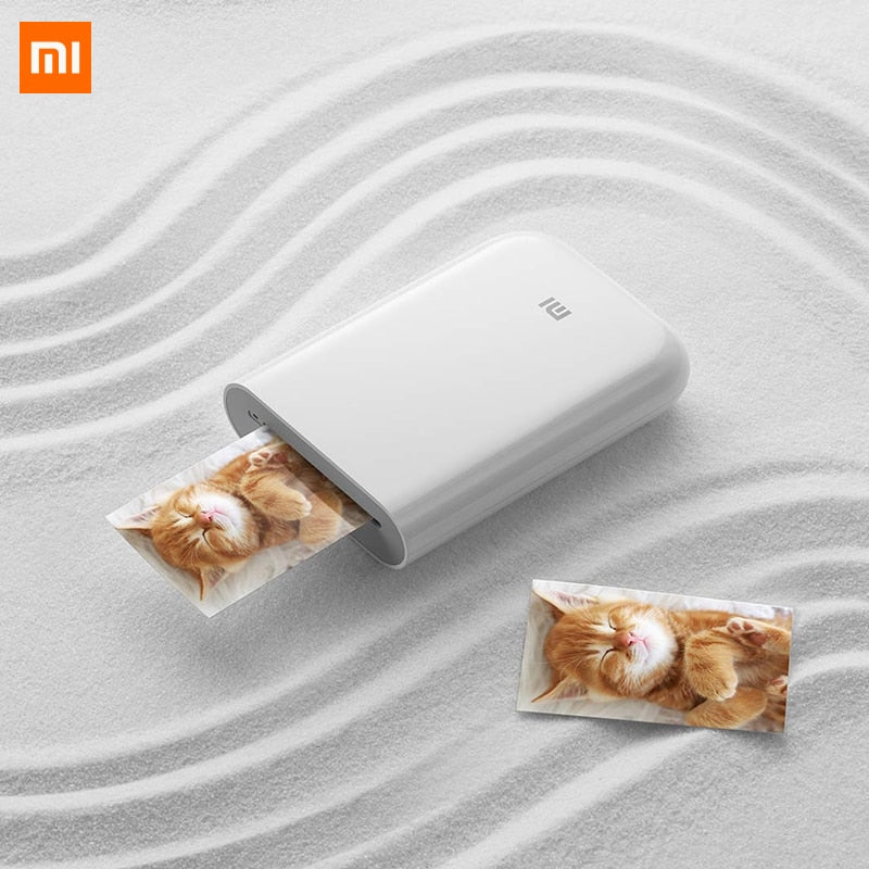 Xiaomi Mijia AR Printer, 300dpi, Bluetooth, Portable/Mini Pocket Photo Printer with DIY Share 500mAh, Picture Printer