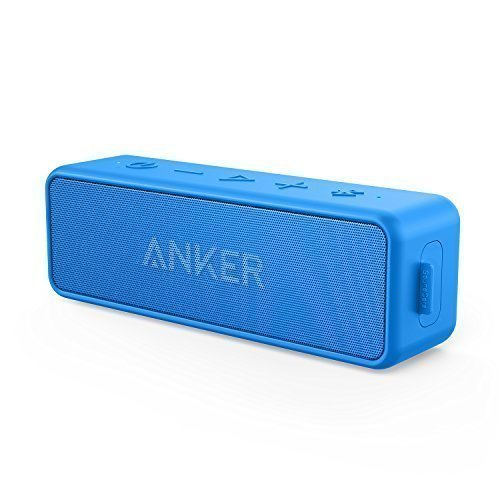 Anker Soundcore 2 Portable Bluetooth Wireless Speaker, Heavy Bass, 24-Hour Playtime, 66ft Bluetooth Range, IPX7 Water Resistance