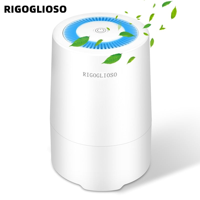 RIGOGLIOSO Air Purifier for Home with True HEPA Filter, Night Light, Portable Purifiers for Dust, Smokers, Pollen, Pet Dander 900S